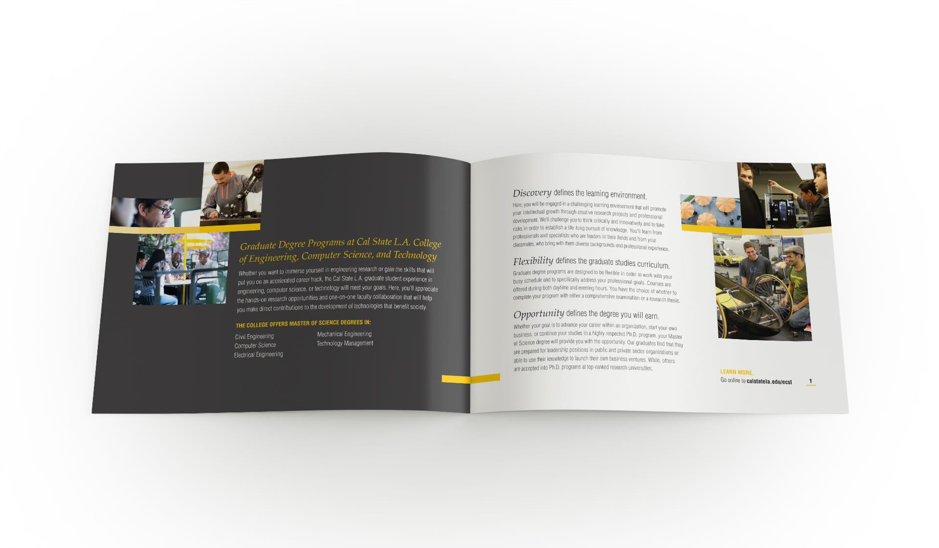 Graduate brochure inner spread