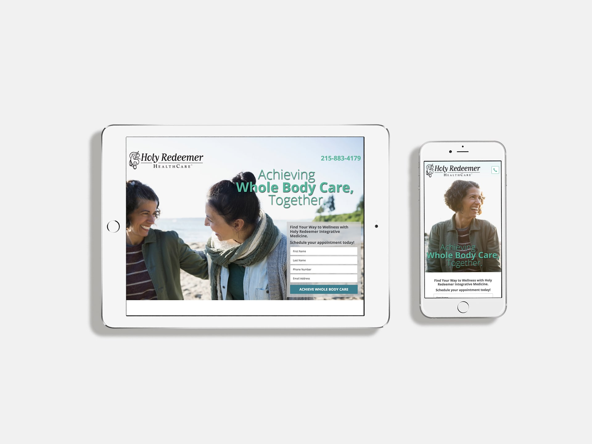Integrative medicine campaign landing page