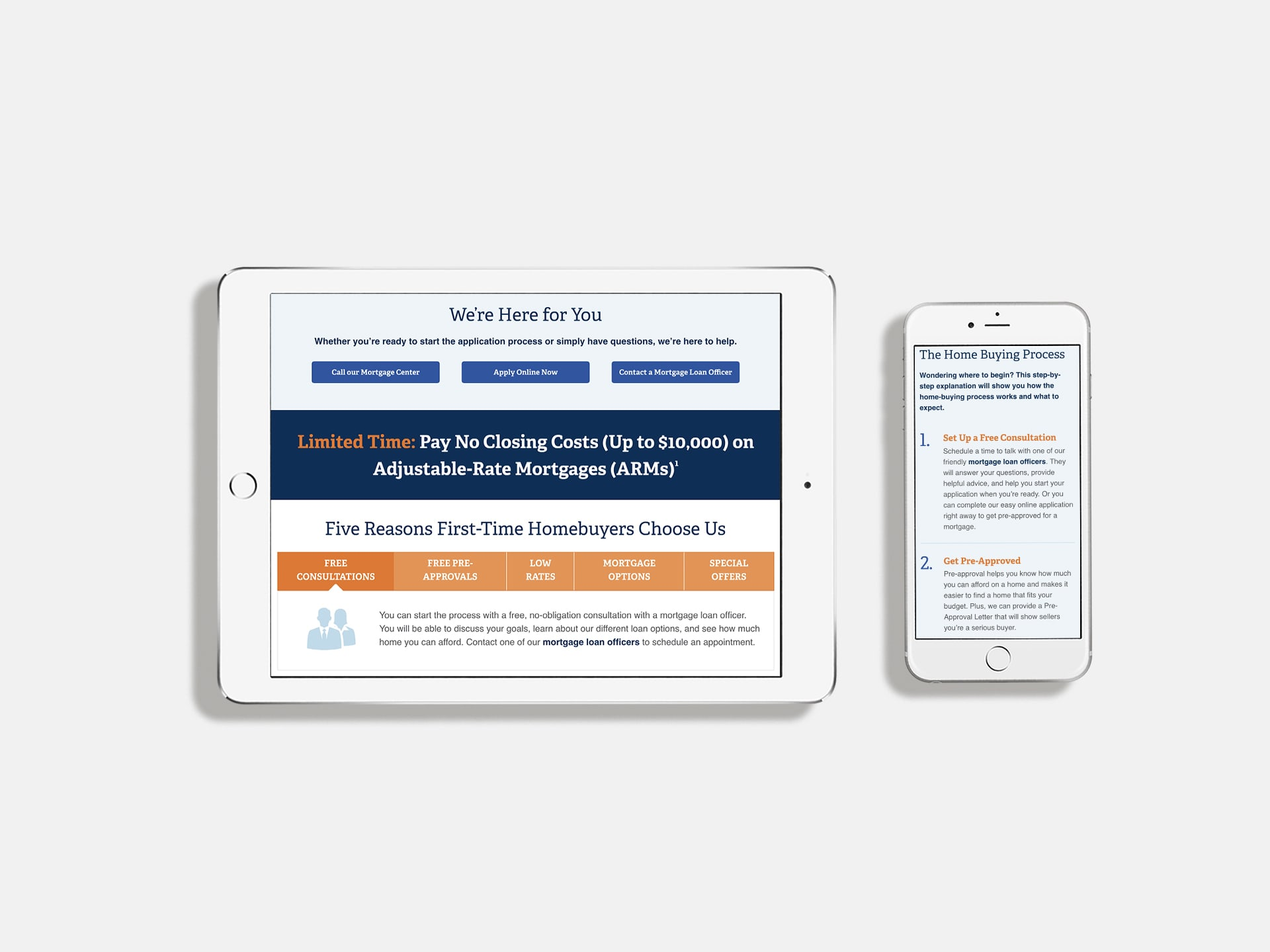 Adjustable Rate Mortgage landing page