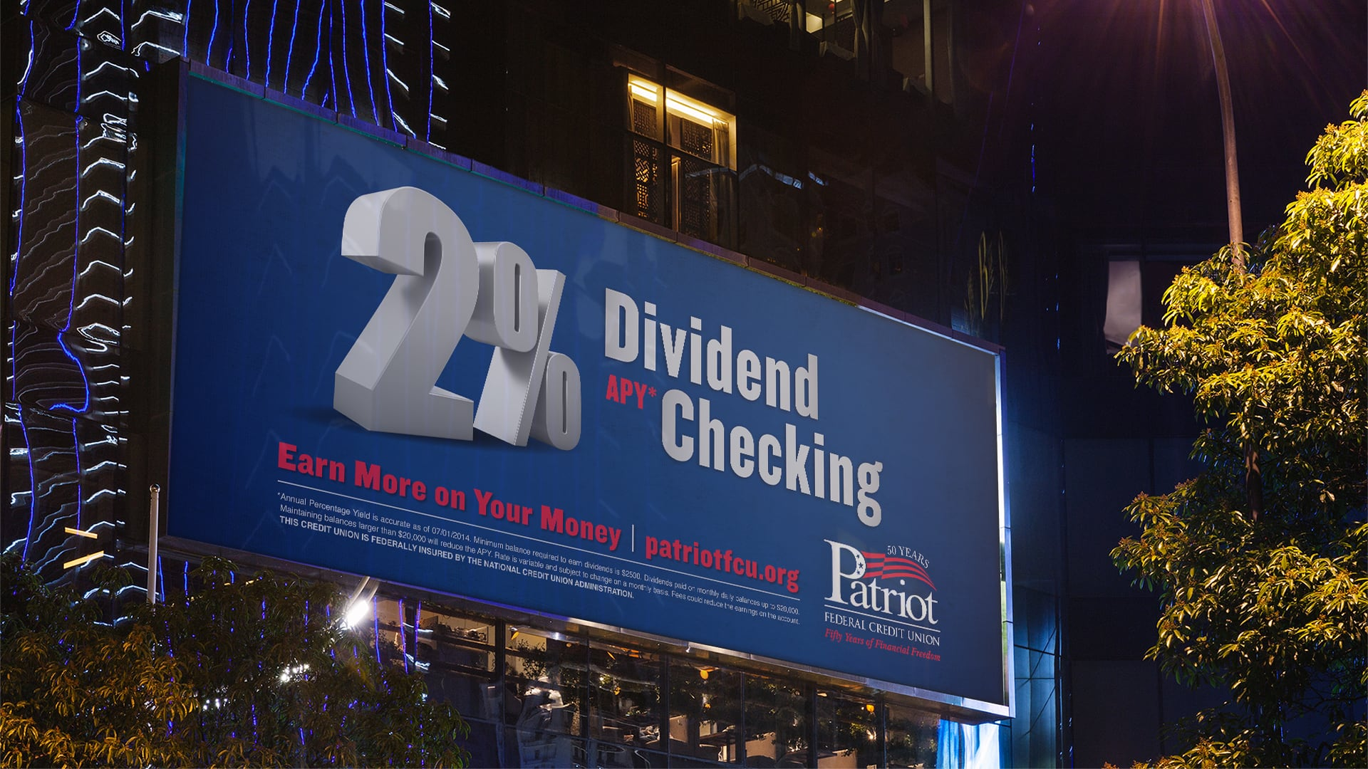 Dividend checking campaign billboard