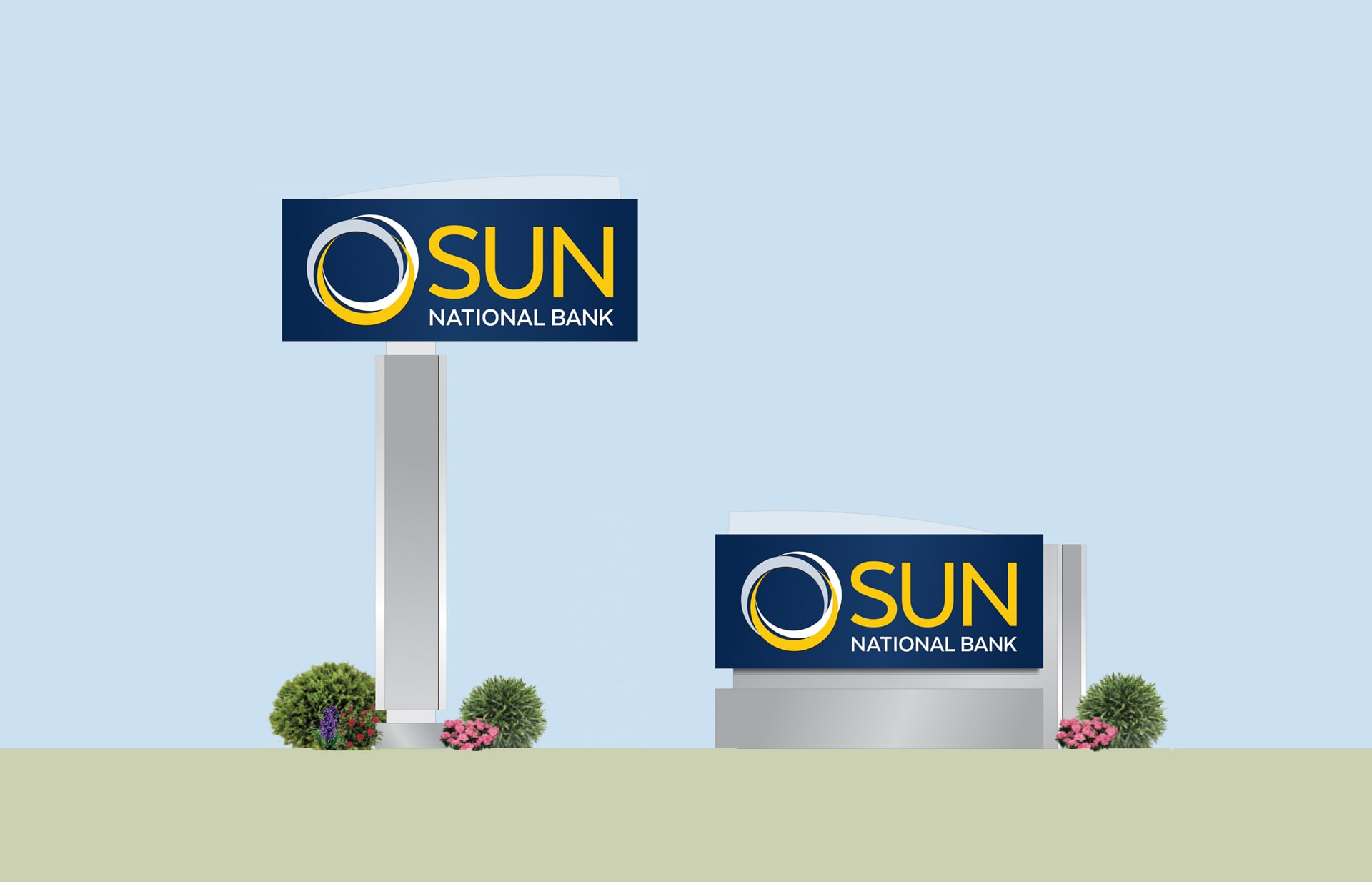 Sun National Bank signage system