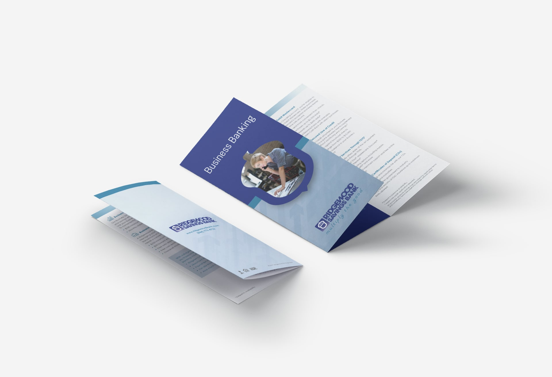 Business banking trifold